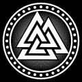 Valknut ancient pagan Nordic Germanic symbol