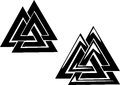 Valknut three interlocked triangles celtic ornament Royalty Free Stock Photo