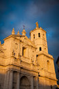 Valladolid Cathedral facade, Spain Royalty Free Stock Photography