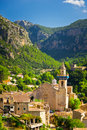 Valldemossa city mallorca spain beautiful view of Royalty Free Stock Images