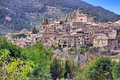 Valldemossa picturesque town of in majorca spain Royalty Free Stock Images