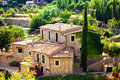 Valldemossa village mallorca house in balearic island spain Stock Photos