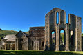Valle crucis abbey at llantysilio view of a ruined cistercian monastery in denbighshire wales Royalty Free Stock Images