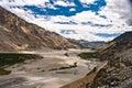 Valle Himalayan, Ladakh, la India Imagen de archivo libre de regalías