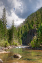 Vallecito trail weminuche wilderness colorado the winds along the creek through the picturesque Royalty Free Stock Photo