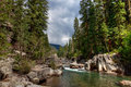 Vallecito trail weminuche wilderness colorado the winds along the creek through the picturesque Royalty Free Stock Photos