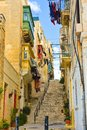 La Valletta Colorful Enclosed Balconies, Malta Home Buildings, Travel Europe, Picturesque Neighborhood