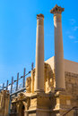 Valletta opera house ruins columns of the of the in malta Stock Images