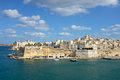 Valletta skyline waterfront grand port malta Royalty Free Stock Photos