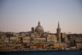 Valletta sunset, Malta Royalty Free Stock Images