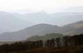 The valley bellow the Trascau mountains in Romania Royalty Free Stock Photo