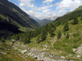 Valley in Caucasus mountains Stock Image