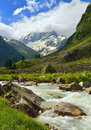 Valley this is colorful in caucasus mountains Stock Image