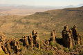 Valley of desolation in camdeboo national park near the karoo town graaff reinet south africa striking geology characterised Stock Photo