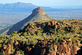 Valley of desolation camdeboo national park south africa Royalty Free Stock Image