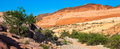 Valley of fire desert panorama in the nevada Stock Image