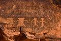 The Valley of Fire Petroglyphs Royalty Free Stock Photos