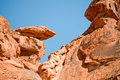 Valley of Fire rock formations Royalty Free Stock Images
