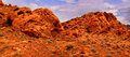 Valley of fire rock formations in the in nevada Stock Photography