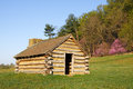 Valley forge cabin a reproduction of cabins used by revolutionary war soldiers during the winter of under the command of george Royalty Free Stock Photo