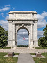 Valley forgre arch picture of the national memorial at forge park in pennsylvania Royalty Free Stock Photo