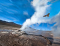 Valley of geysers in the atacama desert chile Royalty Free Stock Images