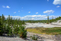 Valley of Geysers in Yellowstone National Park, Wyoming, USA Royalty Free Stock Photo