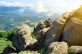 Valley of ghosts in crimea mountains the ukraine Royalty Free Stock Photo