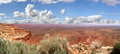Valley of the gods panoramic view in usa Royalty Free Stock Photo