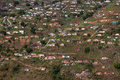 Valley Hillside Houses Africa Stock Photography