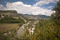 Valley of the Isabena river Puebla de Roda, Spain Royalty Free Stock Photos