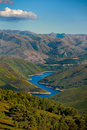 Valley and lake in Peneda-Geres, Portugal Royalty Free Stock Photo