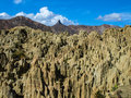 Valley of the moon valle de la luna near la paz bolivia Royalty Free Stock Images