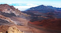 Valley near haleakala volcano desert maui hawaii Stock Photography