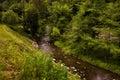 Valley pilske udoli and the river bela in boskovice moravian landscape Stock Images