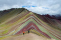 Valley of Siete Colores near Cuzco Royalty Free Stock Photo
