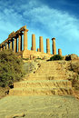Valley of the temples greek ruins, Agrigento Italy Stock Photography
