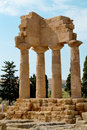 Valley of temples sicily temple the dioscuri the agrigento Stock Images