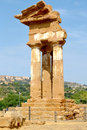 Valley of temples sicily temple the dioscuri the agrigento Royalty Free Stock Photography
