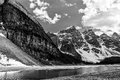 Valley of Ten Peaks glaciers close view Royalty Free Stock Photo