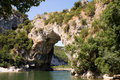 Vallon Pont d'Arc, natural bridge  in France Royalty Free Stock Photography