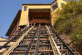 Valparaiso funicular ascensor concepcion historic built in the world heritage coastal city of in chile Royalty Free Stock Photo