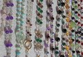 Valuable necklaces in gold and gemstones Royalty Free Stock Photo