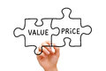 Value Price Puzzle Concept Royalty Free Stock Photo