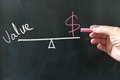 Value vs cost Royalty Free Stock Photo