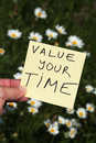 Value your time relax often and make the most of on earth Royalty Free Stock Photos
