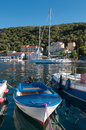 Valun port and town in croatia cres Stock Photos