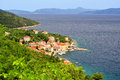 Valun the village in croatia Stock Photo