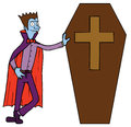 Vampir & Coffin Stock Photos