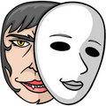 Vampire Behind Mask Stock Photo